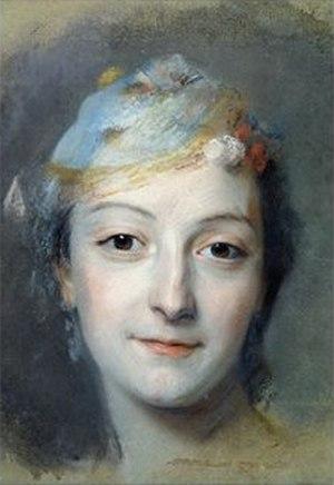 Marie Fel - Marie Fel Portrait by Quentin de La Tour (1757)