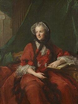 Marie Leszczyńska, reine de France, lisant la Bible by Jean-Marc Nattier, 002.jpg