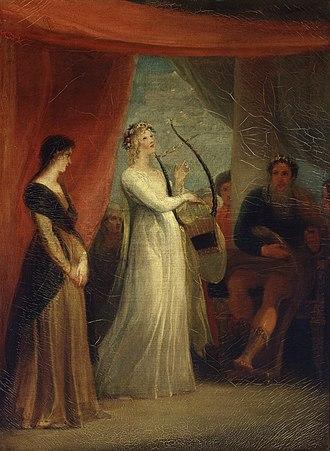 Pericles, Prince of Tyre - Marina singing before Pericles, Thomas Stothard, 1825