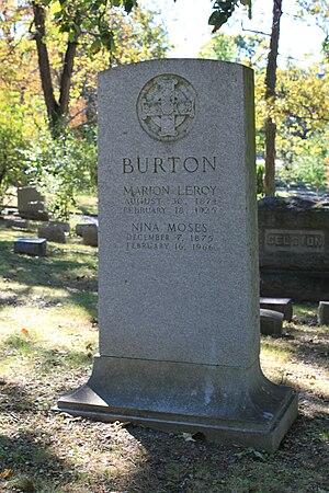 Marion LeRoy Burton - Burton grave, Forest Hill Cemetery