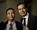 Mark Dacascos and Otabek Mahkamov (10.5.2012).JPG