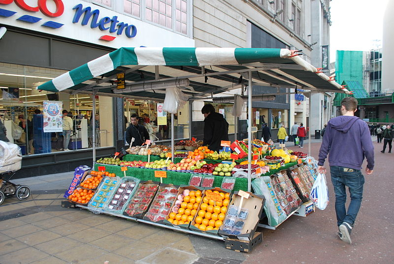 File:Market Stall in Liverpool.JPG