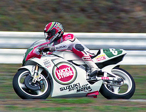 1991 Japanese motorcycle Grand Prix - Martin Wimmer in the 250 cc race.
