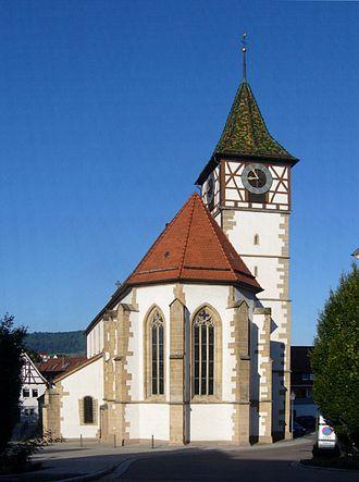 Neuffen - Martinskirche Neuffen from the east side