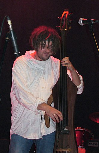 Electric upright bass - Karim Martusewicz - double-bassist for the band Voo Voo