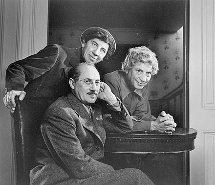 March 8: The Marx Brothers retire Marx Brothers 1948.jpg