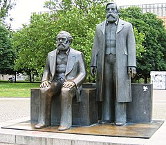 Statues of Karl Marx and Friedrich Engels in the Marx-Engels-Forum, Berlin
