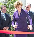 Mary McAleese cutting the ribbon at Ireland Park, 2007.jpg