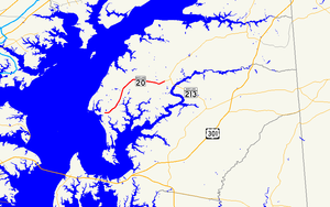 Maryland Route 20 - Image: Maryland Route 20 map