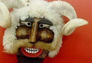 Busójárás - Busó mask from the collection of the Museu da Imigração de São Paulo (Immigration Museum of São Paulo) - Brazil