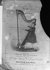 Master Hughes and the harp (print)