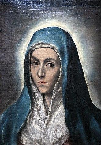 """Musée des Beaux-Arts de Strasbourg - """"Mater dolorosa"""", by El Greco"""
