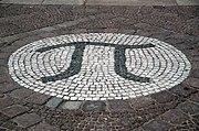 Piso-Pi mosaico en la entrada del edificio de las matemáticas en TU Berl�n.