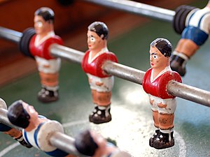 O Clássico - A fuzboll table depicting the rivalry between Benfica and Porto