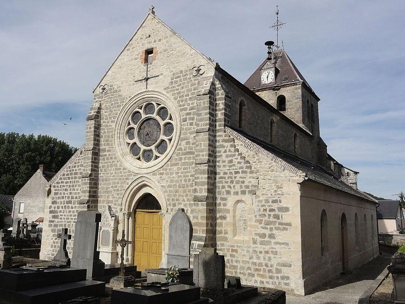 Mauregny-en-Haye (Aisne) église