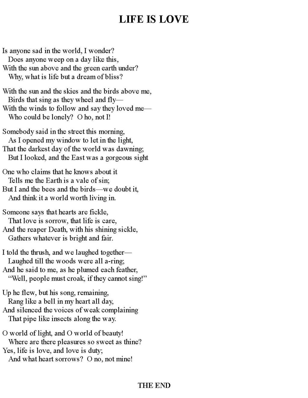 living in sin poem