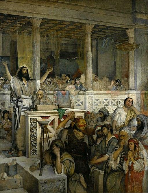 Maurycy Gottlieb - Christ preaching at Capernaum - Google Art Project