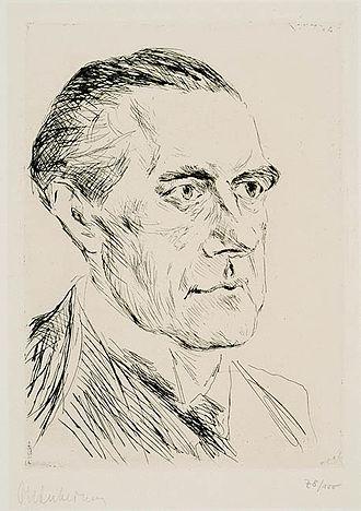 Peter Behrens - Portrait of Peter Behrens by Max Liebermann