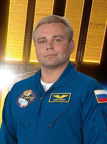 "Cosmonaut Maksim Surayev, NASA photo (7 July 2009)<br /><Source:</i> <a href=""https://commons.wikimedia.org/wiki/File:Maxim_Suraev.jpg"" rel=""external"">Wikipedia</a> 359px-Maxim_Suraev.jpg"