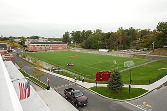 Iona College (New York) - Mazzella Field is home to the Iona varsity men's soccer, women's soccer, lacrosse, and rugby club teams.