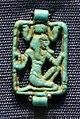 Medio-nuovo regno, piastrina di collana in faience, 2055-1069 ac ca.jpg