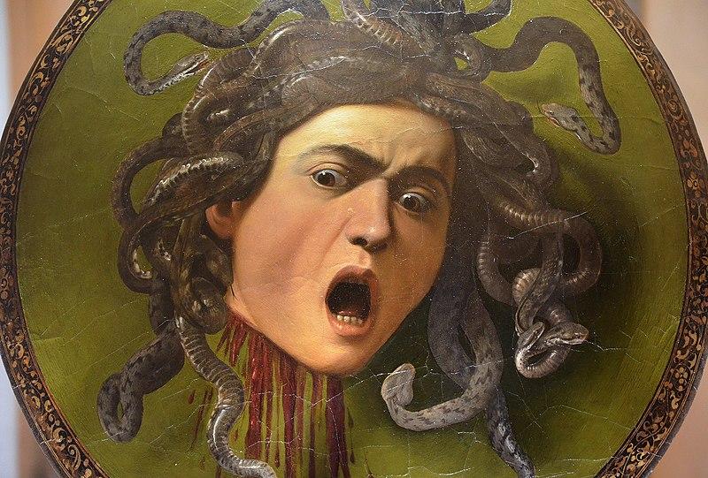 File:Medusa by Caravaggio, 1597, Galleria degli Uffizi (21810229096).jpg