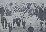 Mehmet Nazif's (Gerçin) injury in Fenerbahçe-Galatasaray match in 10 May 1929.JPG