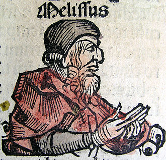 Melissus of Samos - An illustration of Melissus of Samos from the Nuremberg Chronicle