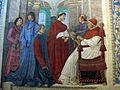 Melozzo da forlì, Sisto IV nomina Bartolomeo Platina Prefetto della Biblioteca Vaticana, 1477 ca. 02.JPG