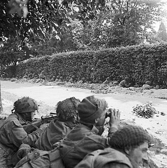 1st Airborne Division (United Kingdom) - Men from the 1st Airborne Division during Operation ''Market Garden'' fighting in the battle of Arnhem, September 1944.