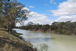 none  Lower course of the Darling River at Menindee