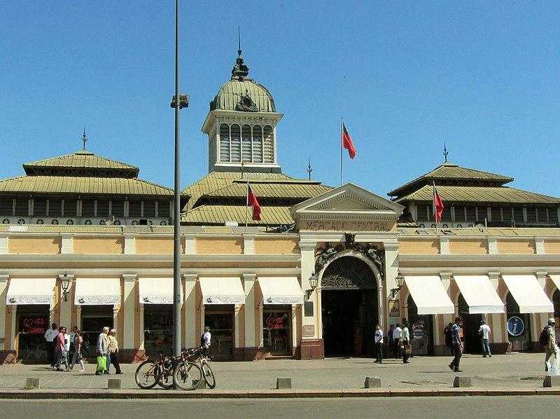 Mercado Central de Santiago de metrô
