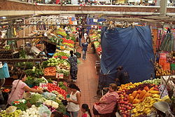 Grocery stalls in San Juan de Dios Market in Guadalajara, Jalisco  Market