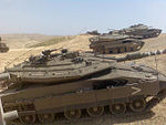 Merkava Mark IV (foreground)