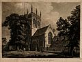 Merton College, Oxford; the church. Aquatint by J. Merigot a Wellcome V0014135.jpg