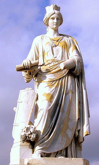 Idylls from Messina - Image: Messina Statua di Messina (G. Prinzi)