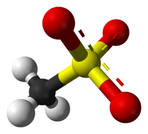 Mesylate - Ball-and-stick model of the mesylate anion