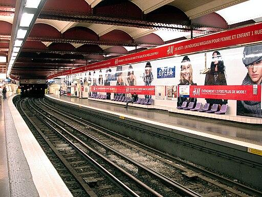 Metro Paris - Ligne 3 - station Opera 03