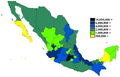 Mexican states by population 2011.png