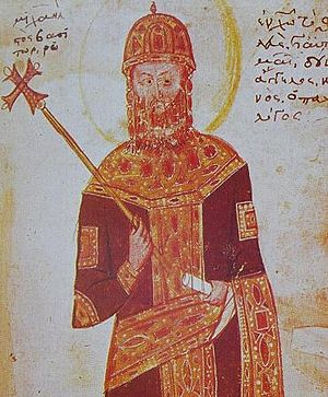 Michael VIII Palaiologos - Painting of Michael VIII