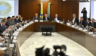 Palácio do Planalto - The Supreme Meeting Room, located on the second floor of the Palace.
