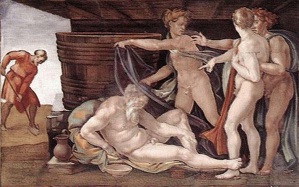 Michelangelo drunken Noah