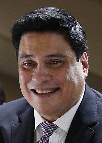 Majority Floor Leader of the Senate of the Philippines - Image: Miguel Zubiri Senate 2018 (cropped)