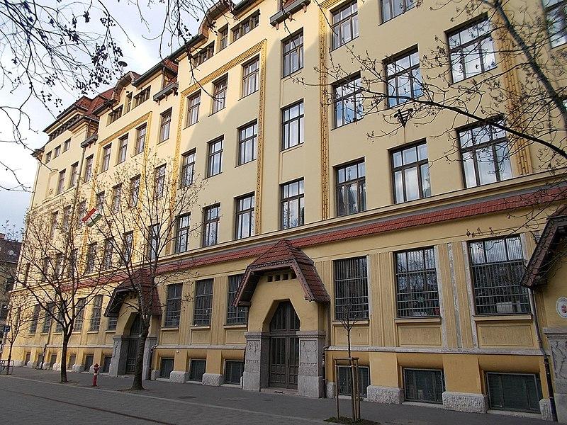 File:Mihály Fazekas high school, facade, 2016 Budapest.jpg