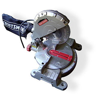 Miter saw mechanical saw used to obtain for precise angle cuts
