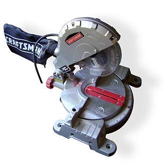 Miter saw - A motorized miter saw