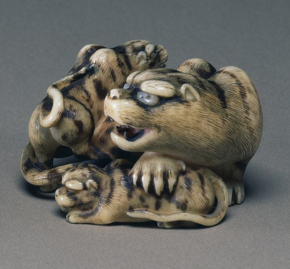 Miyasaka Hakuryu II - Tigress with Two Cubs - Walters 71909