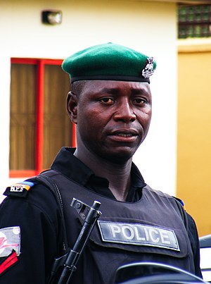 Nigeria Police Force - Mobile policeman