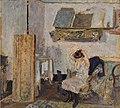 Model Sitting in an Armchair, Styling Her Hair by Édouard Vuillard.jpg