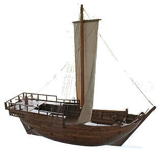 Bremen cog - Image: Modell der Bremer Kogge von 1380